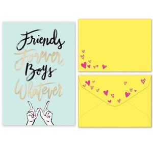 4/$15🌻3 Friends Forever Boys Whatever cards & env